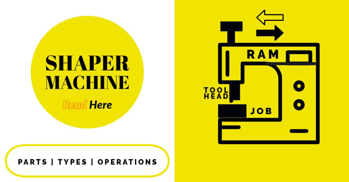Shaper Machine: Definition, Working, Types, Operations, Specification, Advantages, Disadvantages, and Application (With PDF) FEATURE IMAGE