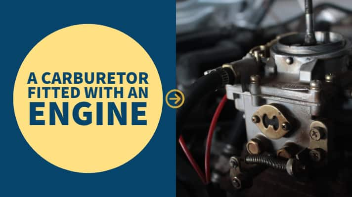 a carburetor fitted with an engine