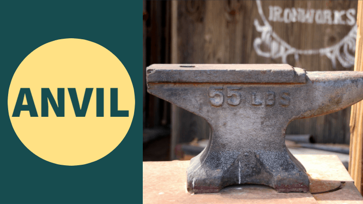anvil used for hand forging