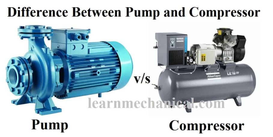 difference between pump and compressor