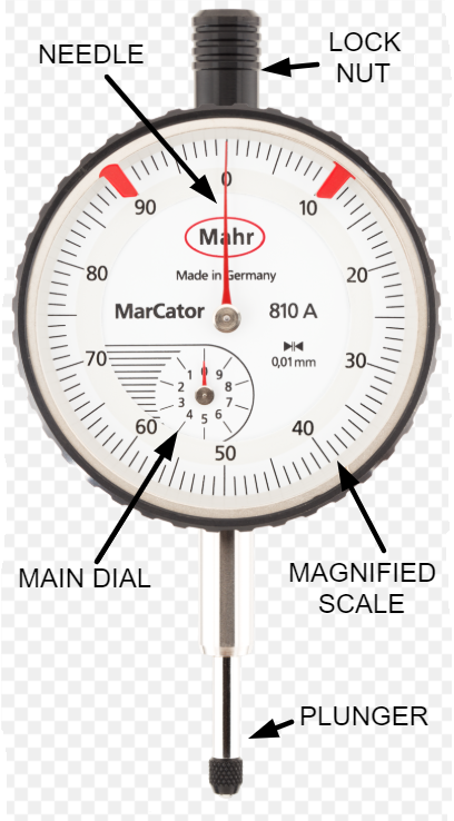 parts of an dial indicator image